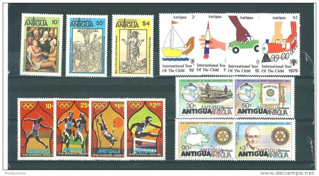 Antigua: 540/ 546 + 559/ 562 + 582/ 585 ** - Antigua Et Barbuda (1981-...)