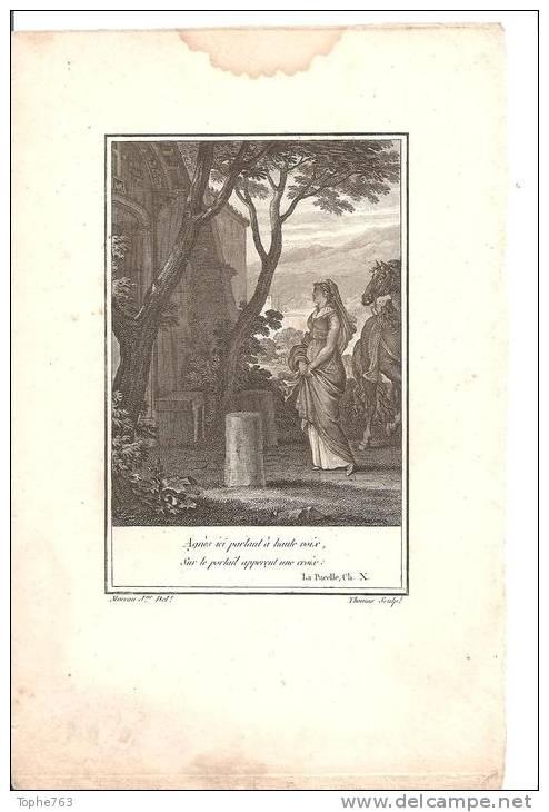 Petite Gravure XVIIIe De Moreau Le Jeune , Gravée Par Thomas - Estampas & Grabados