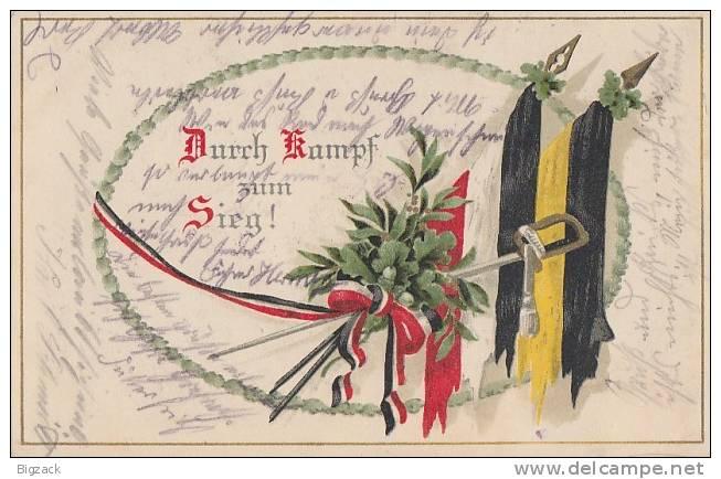 DR Propagandakarte 1.WK Durch Kampf Zum Sieg! Gelaufen - Briefe U. Dokumente