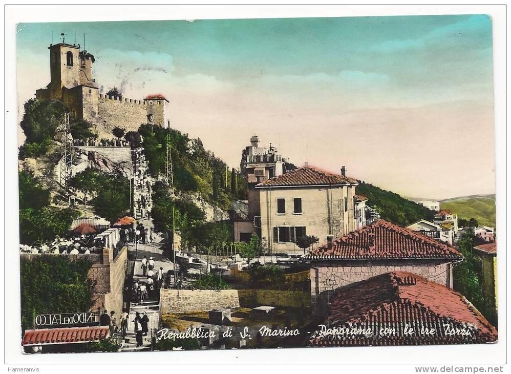 San Marino - Panorama Con Le Tre Torri - H234 - San Marino