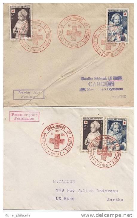 Premier Jour, Exposition Croix Rouge Et Publicité - 1950-1959