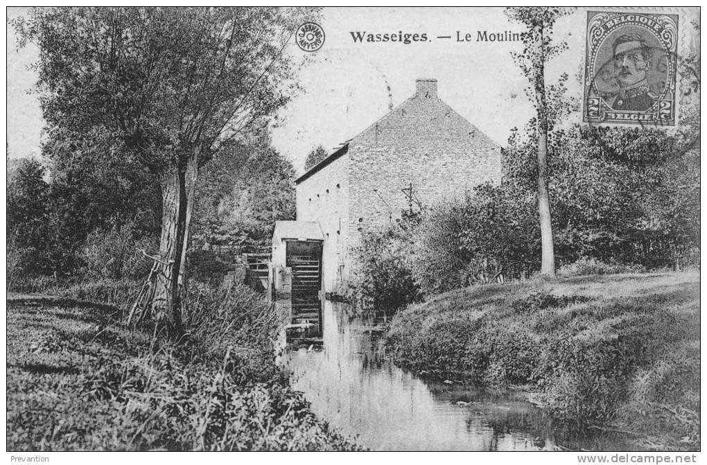 WASSEIGES - Le Moulin -  Superbe Carte Circulée 1920 - Wasseiges