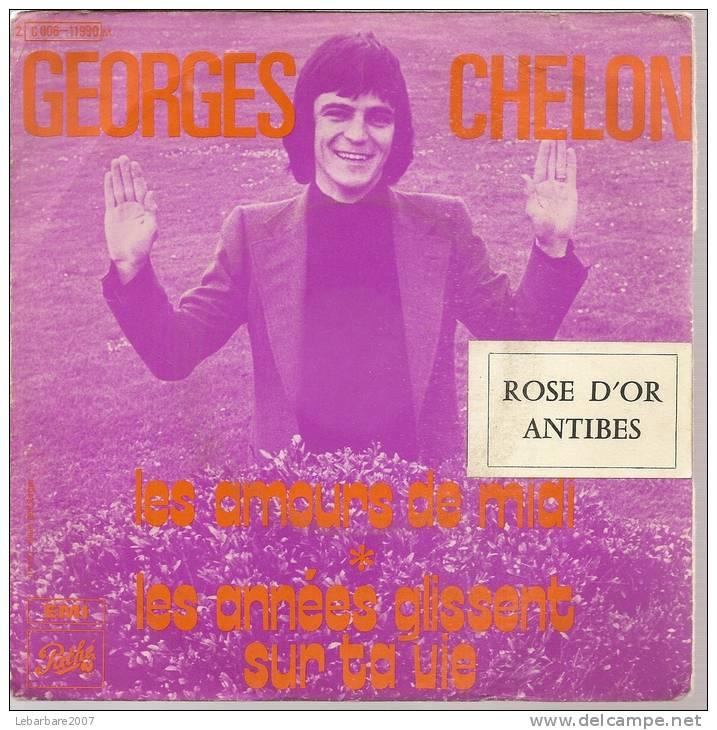 """45 Tours SP - GEORGES CHELON  - PATHE 11990 -  """" LES AMOURS DE MIDI """" +  1 - Vinyles"""