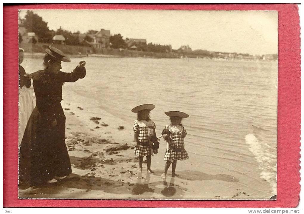 44  LE  POULIGUEN  DEVANT  KER  IMPER  A  PENCHATEAU   AOUT  1903  LES  JUMELLES  Mme BUREAU - Le Pouliguen