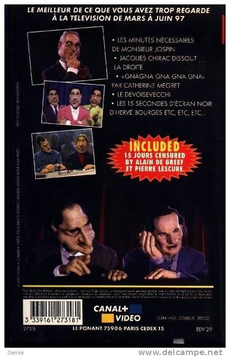 """LES  GUIGNOLS   DE  L´ INFO   12  ******     Putain Mais Quel Con"""" - Cassettes Vidéo VHS"""