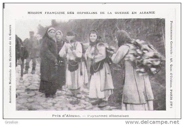 PRES D'ALESSIO (LEZHA) PAYSANNES ALBANAISES (BEAU PLAN ANIME) - Albania