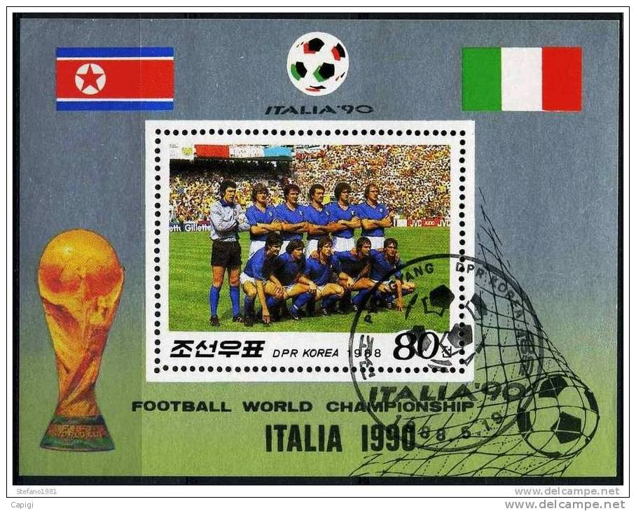 1990 - DPR KOREA  - ITALIA 90  - SHEET USED - World Cup