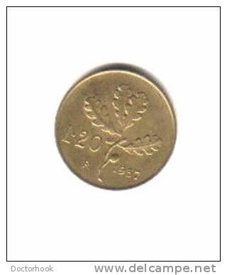 ITALY    20  LIRE   1957 (KM# 97.1) - 1946-… : Republic