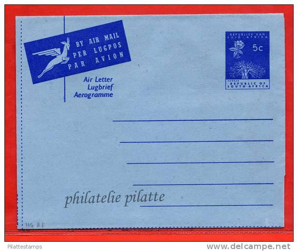 AFRIQUE DU SUD AEROGAMME ARBRE 5C NEUF - Afrique Du Sud (1961-...)