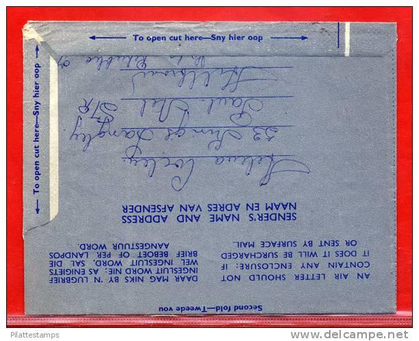 AFRIQUE DU SUD AEROGAMME ARBRE 5C DE 1961 POUR VEVEY SUISSE - Afrique Du Sud (1961-...)
