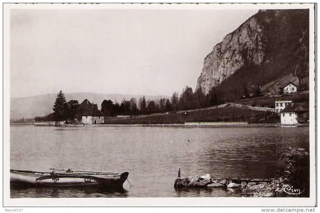 VEYRIER 74  Haute Savoie Les Bords Du Lac Carte Dentelée Véritable Photo - Veyrier