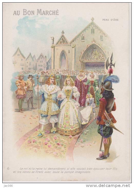 """Carte Publicitaire  """"Au Bon Marché""""   Peau D'Ane - Autres"""