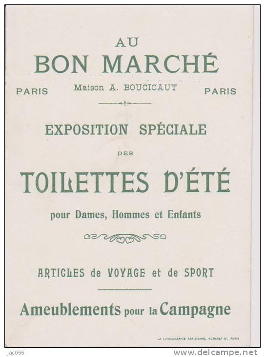 """Carte Publicitaire  """"Au Bon Marché""""   Peau D'Ane - Publicité"""