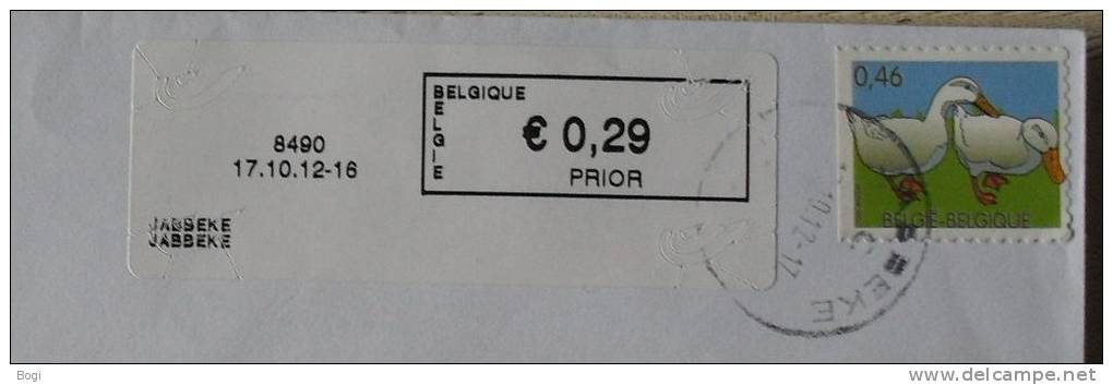 België 2012 Jabbeke 8490 - Nieuw Logo Bpost - Postage Labels