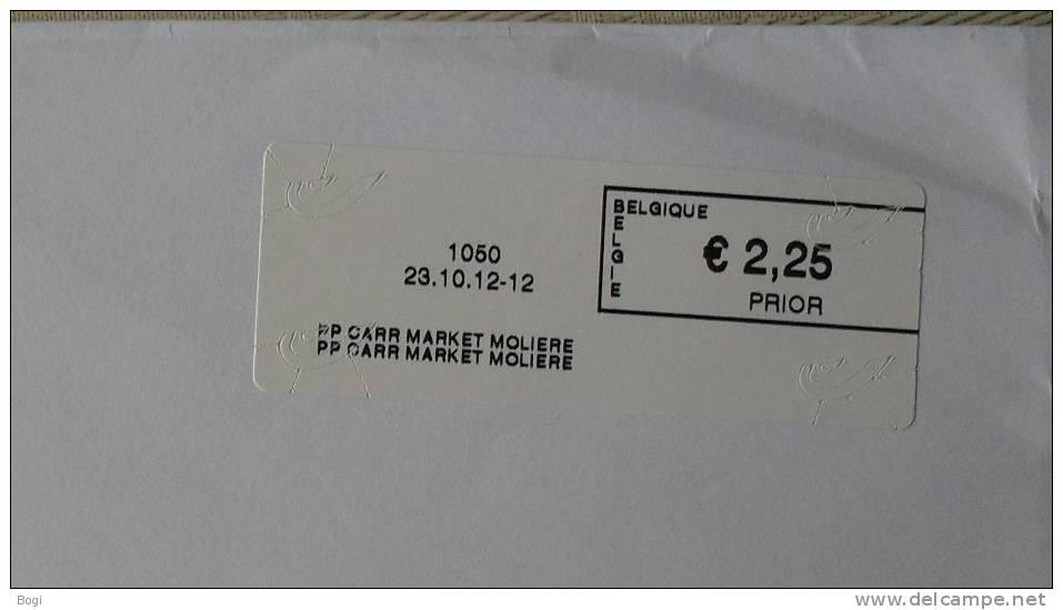 België 2012 PP Carr Market Moliere 1050 - Nieuw Logo Bpost - Fragment - Frankeervignetten