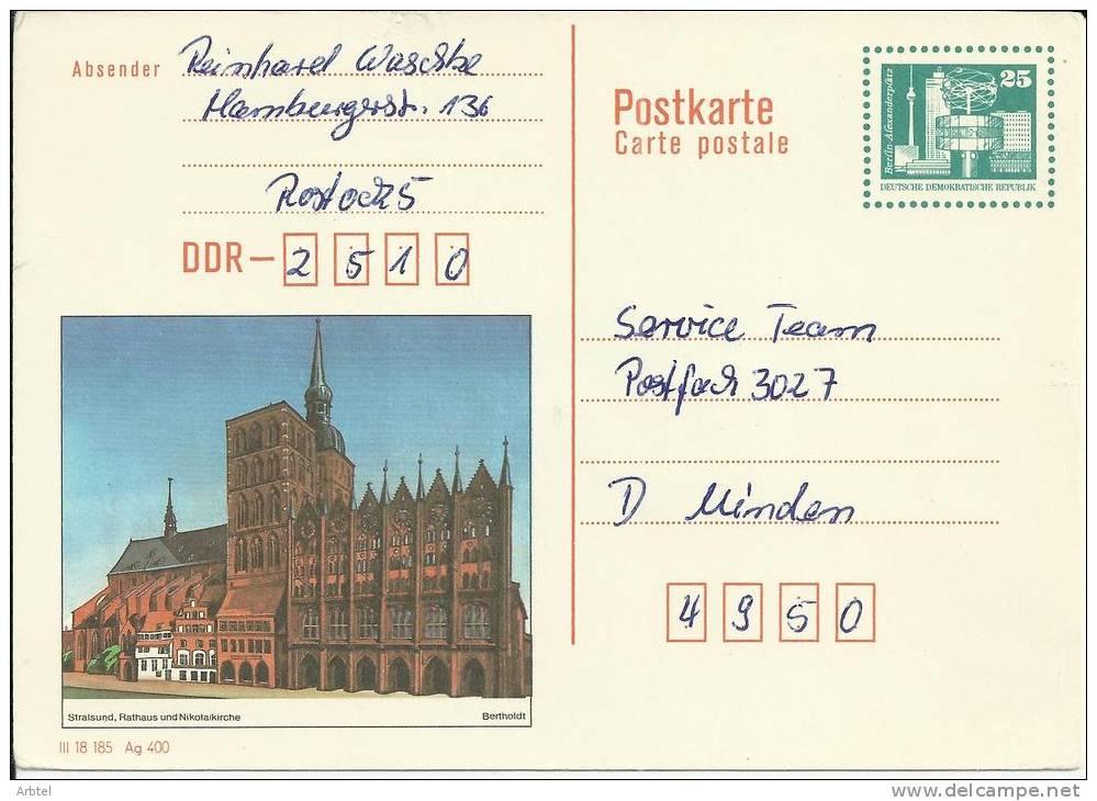 ALEMANIA DDR ENTERO POSTAL BERTHOLDT - [6] República Democrática