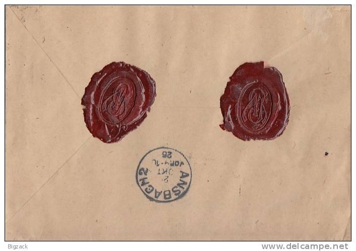 DR Wertbrief Mif Minr.243,357 Magdeburg 25.10.26 Gel. Nach Wien - Deutschland