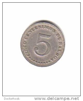 PANAMA    5  CENTESIMOS  1962  (KM# 23.2) - Panama