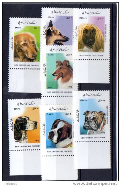 Afghanistan 1986, Races De Chiens, Yv.  1304 / 1310**, Cote 9 € - Perros