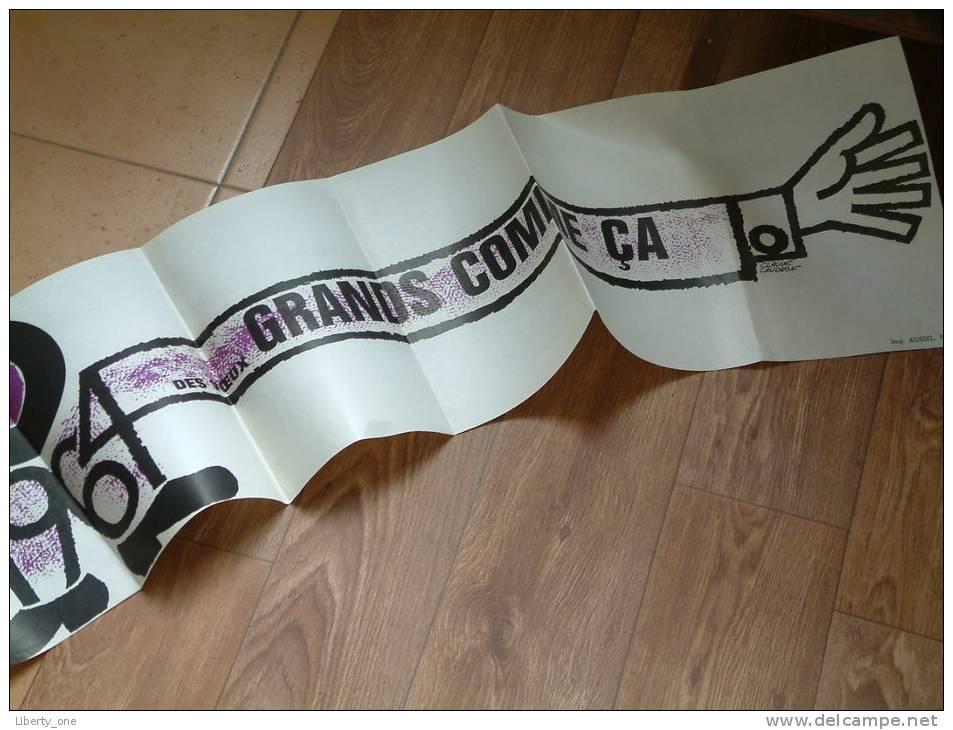 EDDIE BARCLAY 1964 Et Toute Son Equipe Vous Presentent Dex Voeux GRANDS COMME ça 25 X 160 Cm. (zie Foto´s ) ! - Plakate & Poster