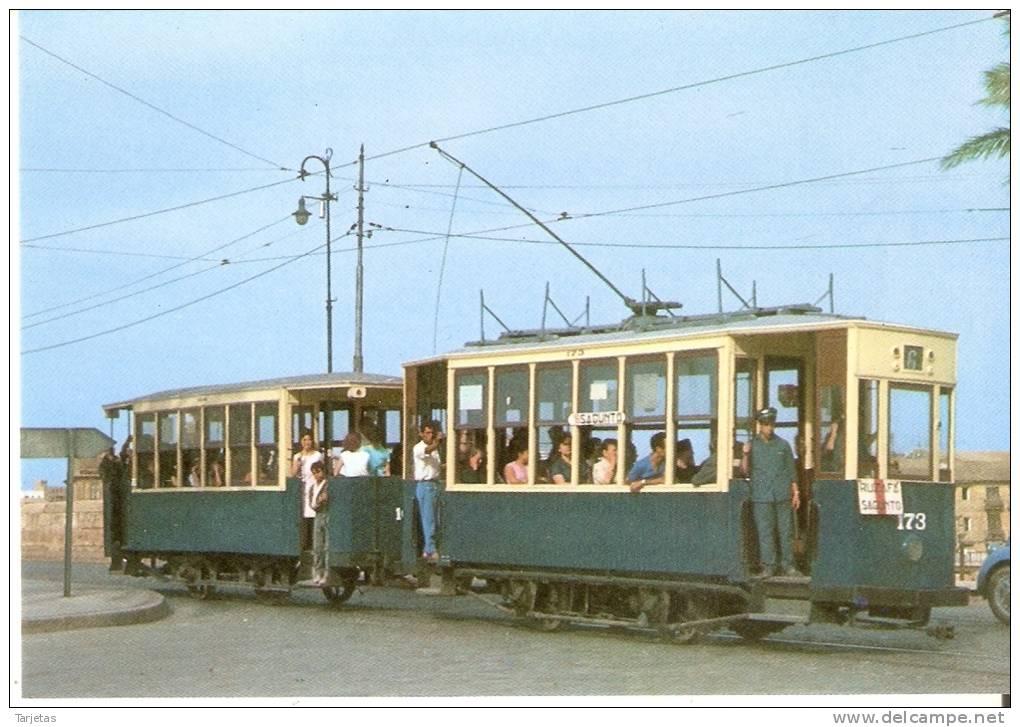 Nº60 POSTAL DE ESPAÑA DE EL TRANVIA DE VALENCIA  (TREN-TRAIN-ZUG) EDICIONES FERROVIARIES - Tranvía
