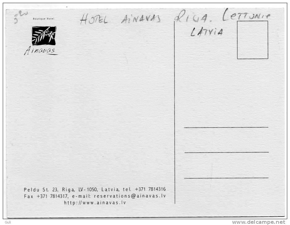 "LETTONIE  LATVIA - Hôtel AINAVAS (Peldu St 23.Riga LV )(cheminée)  ""the Natural Place To Be"" * PRIX FIXE - Lettonie"