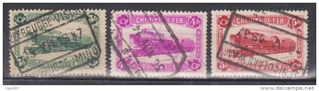 Belgique N° TR175 - 176 - 177 ° Timbres Chemins De Fer Pour Colis Postaux - 1934 - 1923-1941
