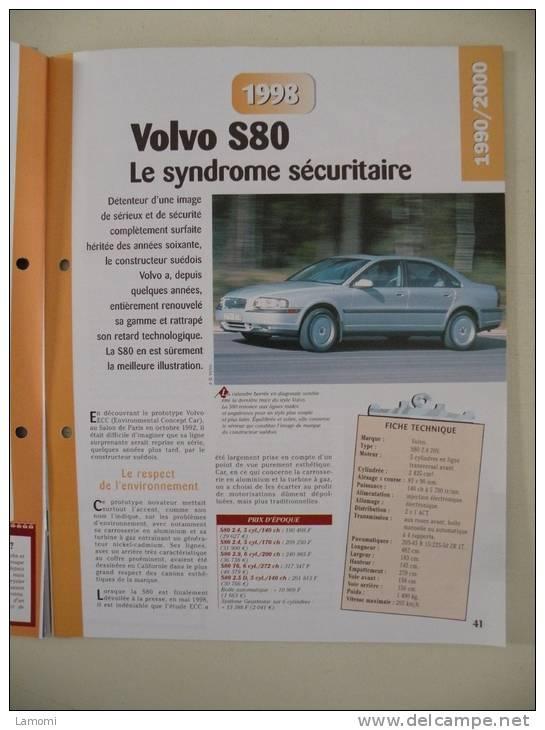 Fiche Technique Voiture - Volvo S80 - 1998 - (N°12) Technical Car - Cars
