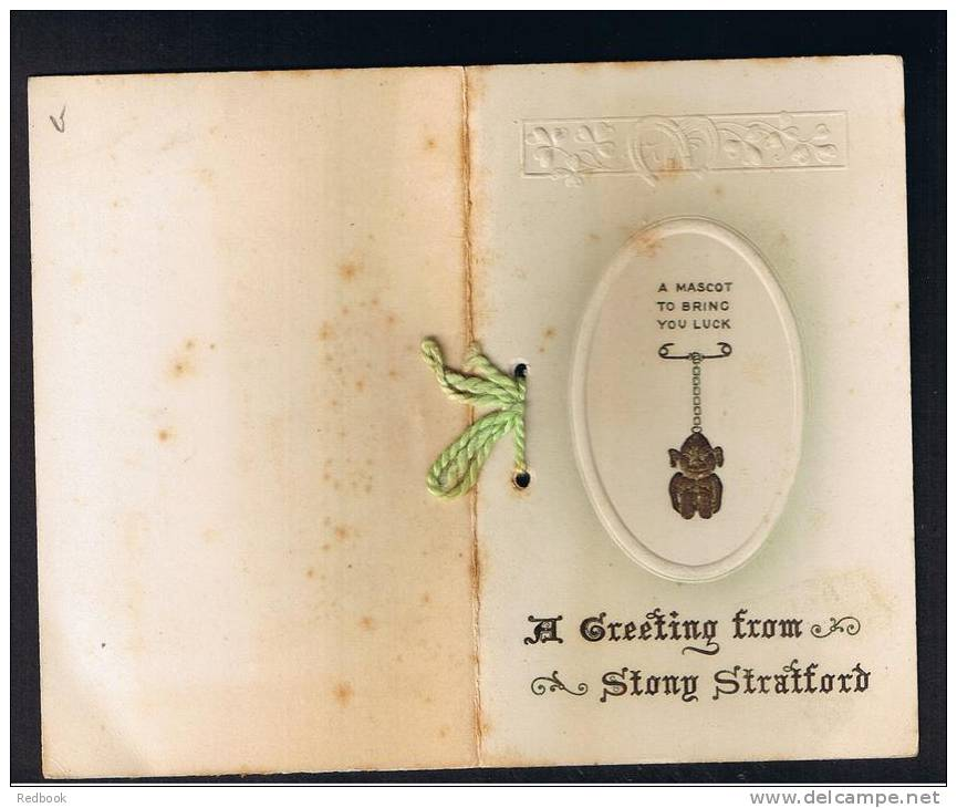 RB 899 - Early Greetings Card From Stony Stratford Near Milton Keynes Buckinghamshire - Old Paper