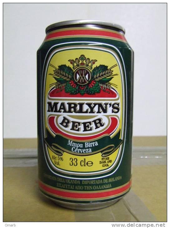 Alt123 Lattina Birra, Boite Biere, Can Beer, Lata Cerveza, Marlyn´s, 33cl, Holland, Olanda, Nederland, 2000 - Cannettes