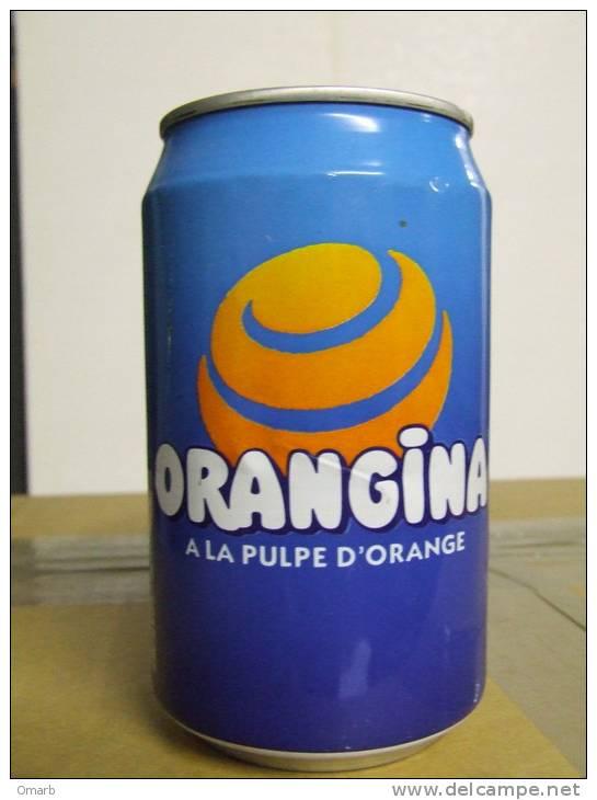 Alt149 Lattina Bibita, Boite Boisson, Can Drink, Lata Bebida, 33cl, Orangina, Orange Juice, France 1996 - Cannettes