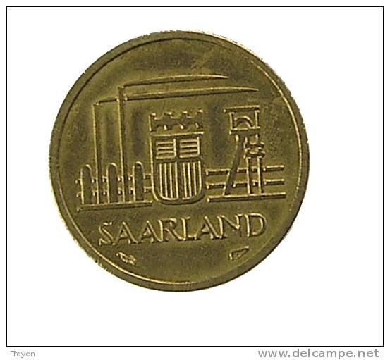 Sarre - 10 Francs - 1954 - Cup.Alu - TB+ - Saar