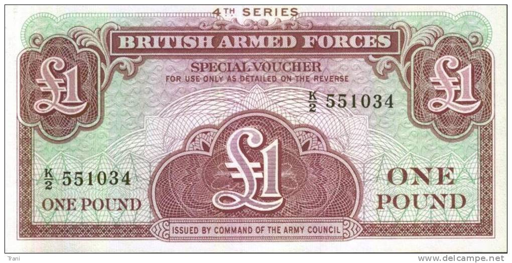 BRITISH ARMED FORCES - One Pound - Emissioni Militari