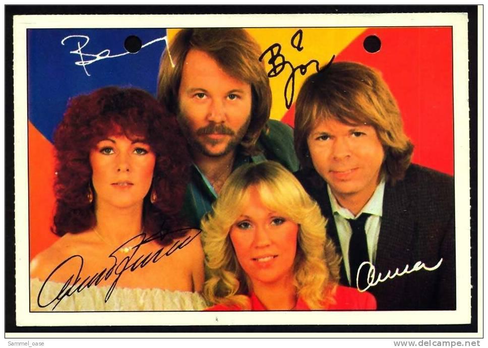 Alte Reproduktion Autogrammkarte  -  ABBA -  Von Ca. 1982 - Autogramme