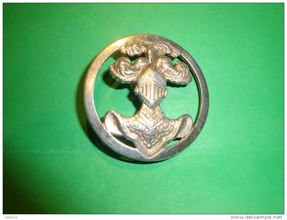 """FRANCE Beautiful Silver?? Circular  Emblem Of The French Army """"Corazzier""""i Made By Drago 2 Photo - Heer"""
