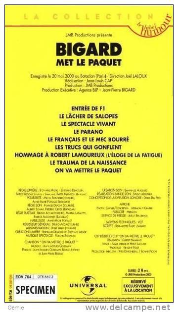 Bigard Met Le Paquet °°° - Cassettes Vidéo VHS