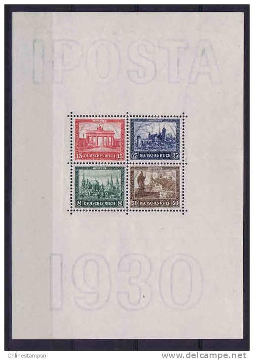 Deutschland: Mi Block 1 MH/* ,  Stamps Are MNH, IPOSTA 1930 - Blocks & Kleinbögen