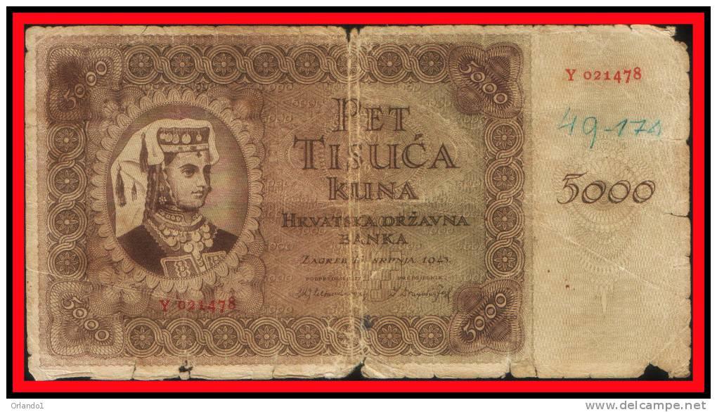NDH 5000 KUNA 1943 - Croatie