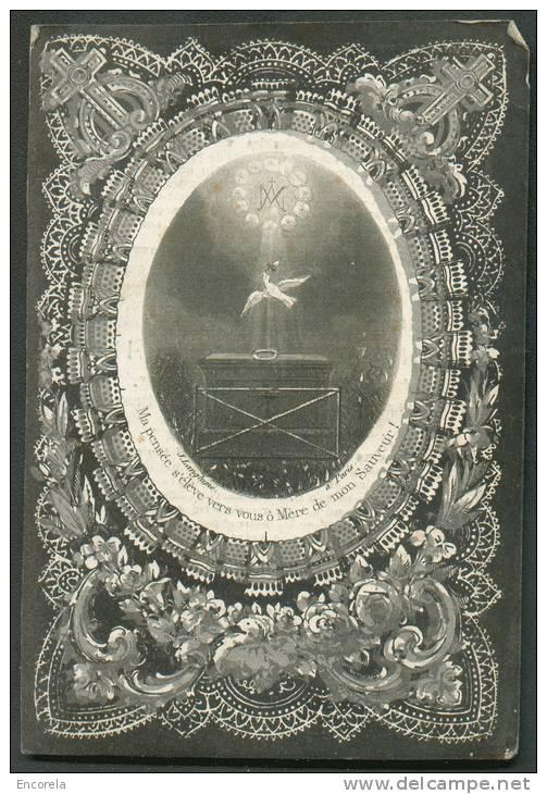 IMAGE PIEUSE / HEILIG PRENTJE * 22 Novembre 1863 B. LANDRIEN Bruxelles - Colombe Et Paix -.  - 8317 - Images Religieuses