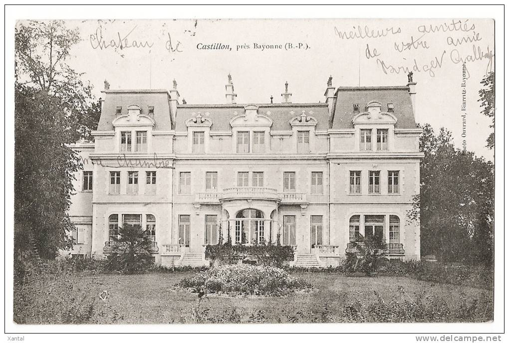 Castillon - Près Bayonne - Le Château - Ecrite / Timbrée 1905 - Non Classés