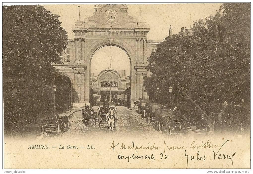 Autographe jules verne sur carte postale de amiens 1902 for Porte carte postale sur pied