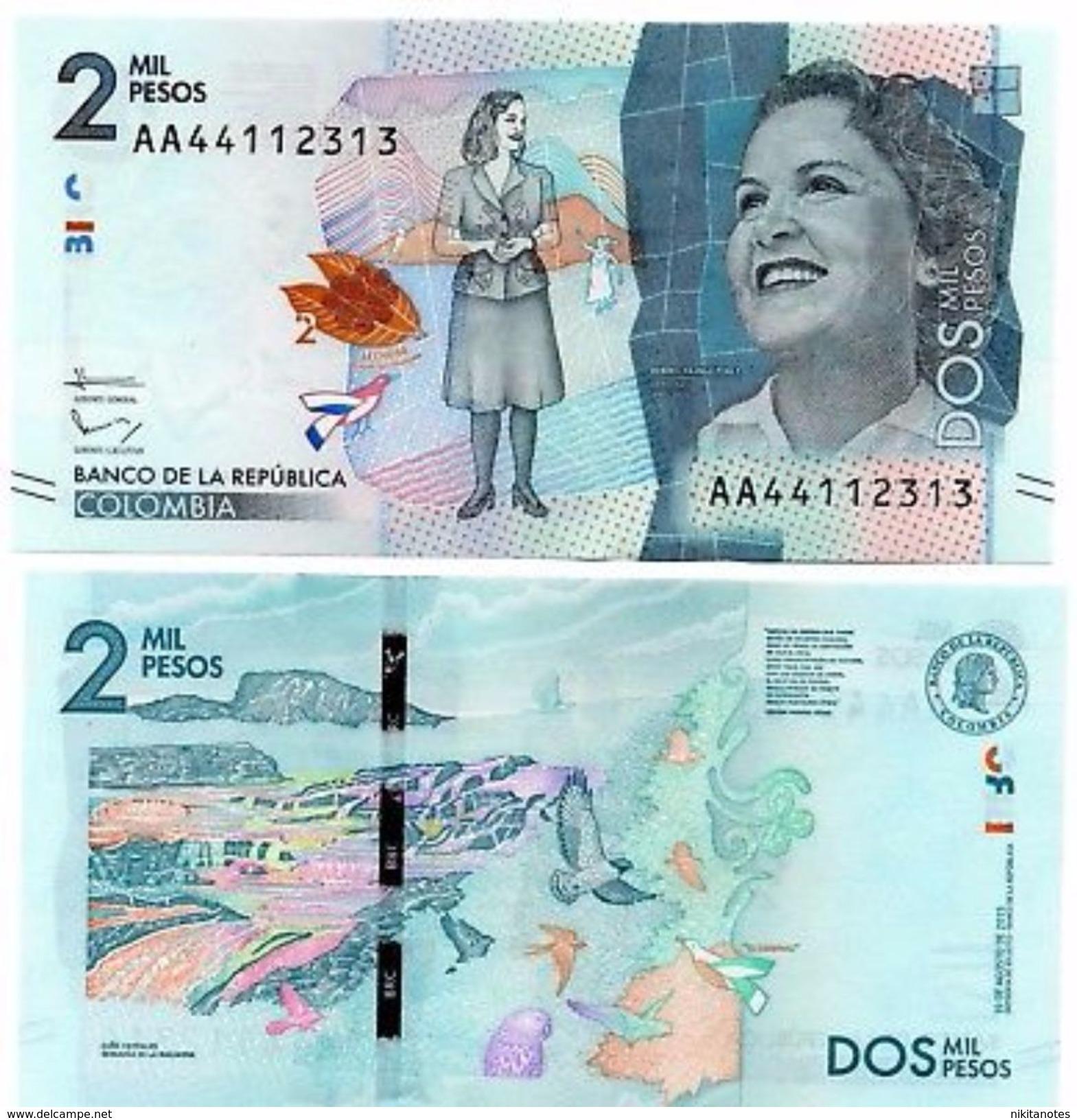 COLOMBIA 2000 PESOS 2015 2016 P NEW DESIGN - Colombia