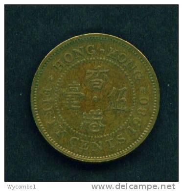 HONG KONG  -  1980  50 Cents  Circulated  As Scan - Hong Kong