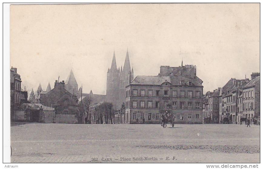 Cpa-14-caen- Place Saint Martin-edi :E.F. N°362 - Caen