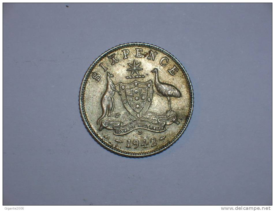 Australia 6 Pence 1942 D  (4484) - Moneda Pre-decimale (1910-1965)