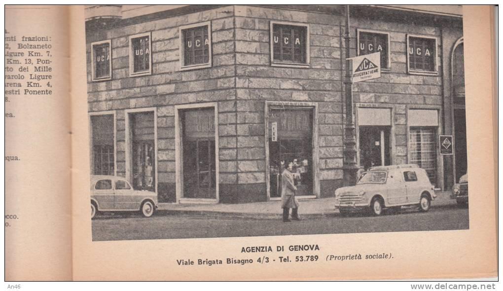 LIBRETTO LIGURIA 17 X 12 GUIDA UCA ASSICURAZIONE TORINO -DISTANZE ITINERARI-PUBBLICITA´ ADVERTISING 48 PAGINE - Turismo, Viaggi