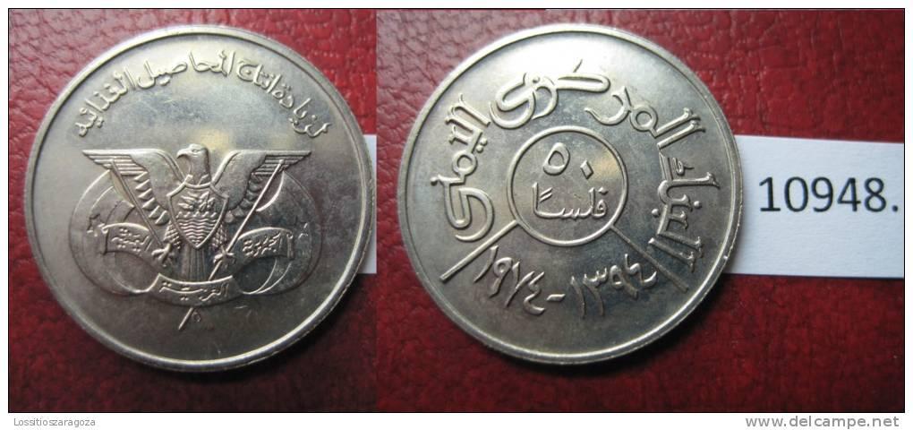 Yemen 50 Fils  1394 / 1974 - Otros – Asia