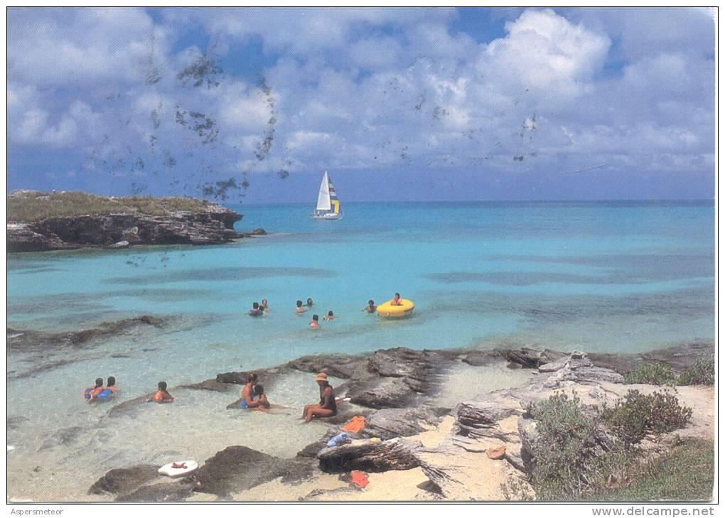 SPANISH POINT PARK AND BEACH BERMUDA CARTE CIRCULEE 1982 A BUENOS AIRES L'ARGENTINE RARE CIRCULATION - Bermuda