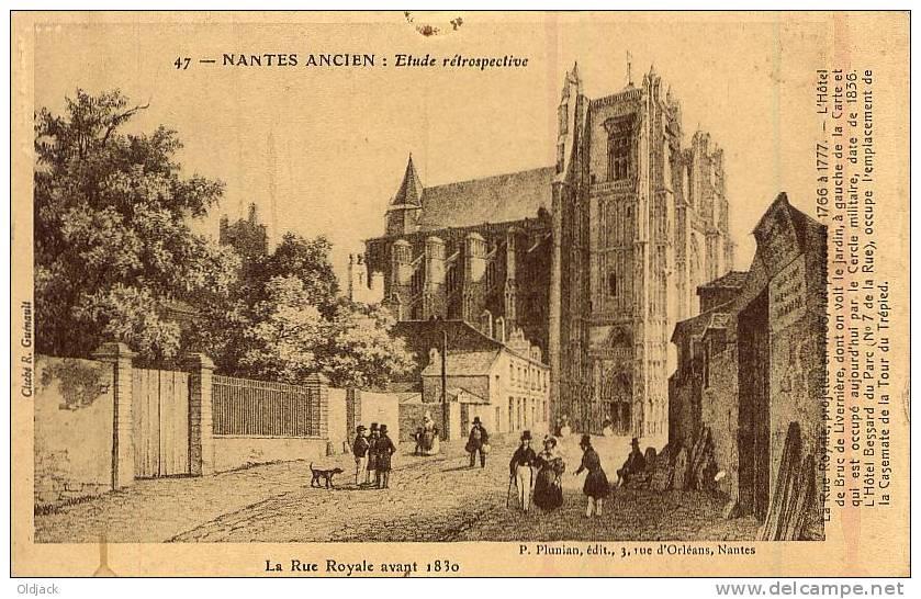 NANTES ANCIEN La Rue Royale Avant 1830 - Nantes