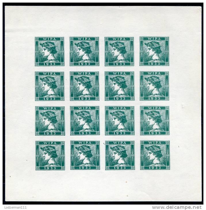 WIPA 1933 Merkur Bogen (commem. Sheet) - Ungebraucht